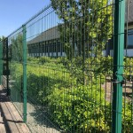 Rampart 286 Welded Wire on Square Posts, Powder Coated Green