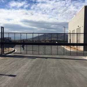Alpha Gate with Welded Wire Infill, Powder Coated Black