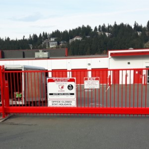 Delta Gate with Custom Red Powder Coating